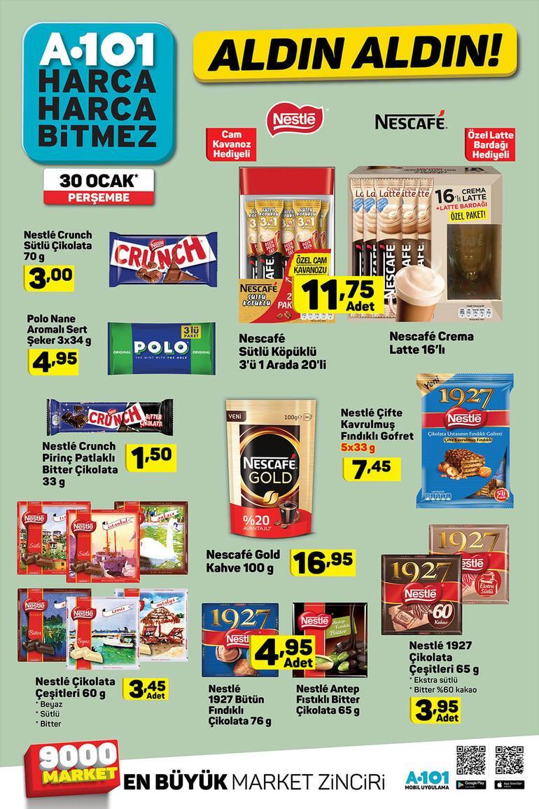 A101 indirimli ürünler kataloğunda bu hafta neler var   30 Ocak A101 aktüel ürünler kataloğu