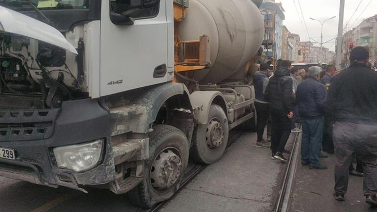 Güngörende beton mikseri dehşeti kamerada