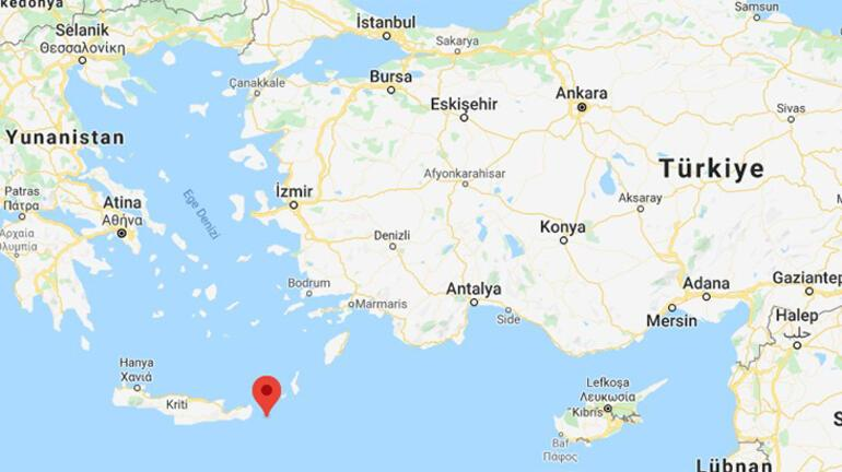 Son dakika... Akdenizde korkutan deprem Depremin büyüklüğü...