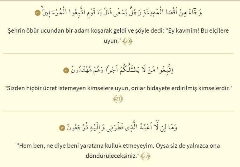 Yasin Vel Kuranil hakim oku - Yasin Suresi Türkçe okunuşu ve anlamı