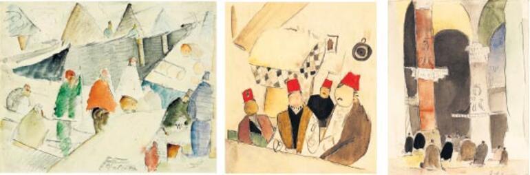 """Bir göçmen ressamın """"İstanbul'da İki Yıl""""ı ile ilgili görsel sonucu"""