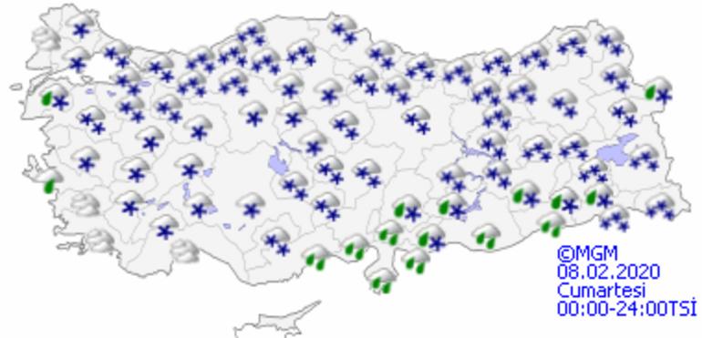 İstanbulda kar yağışı ne kadar sürecek 8 Şubat (Bugün) Hava durumu nasıl olacak