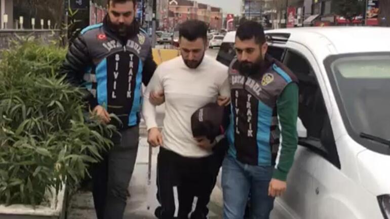 Polisin üzerine motosikletini süren maganda yakalandı