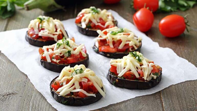 Pizzanın en sağlıklı hali: Patlıcan pizza