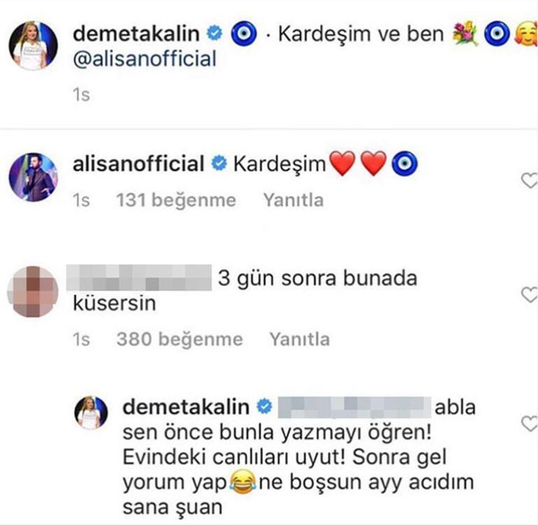 Demet Akalından takipçisine Türkçe dersi