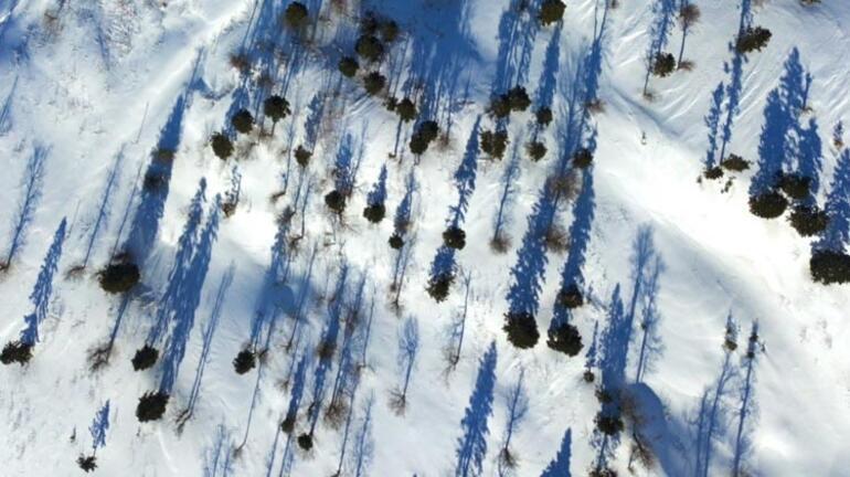 Düzcede kar kalınlığı 2.5 metreye ulaştı