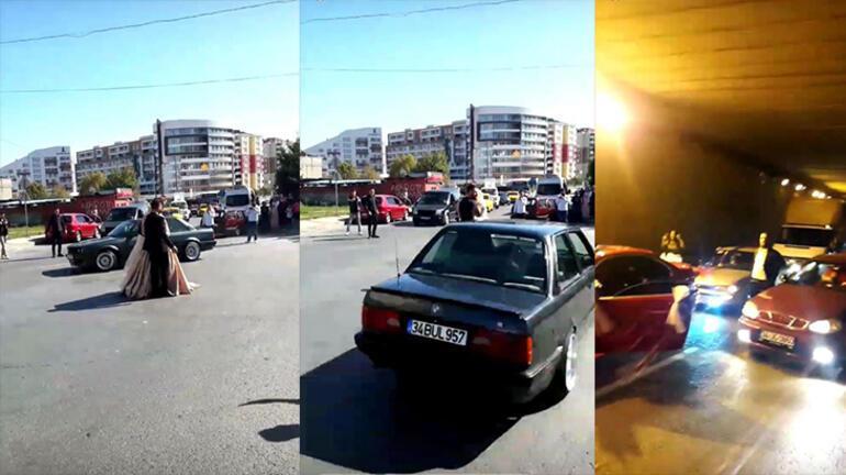İstanbulda düğün konvoylarında şoke eden görüntüler
