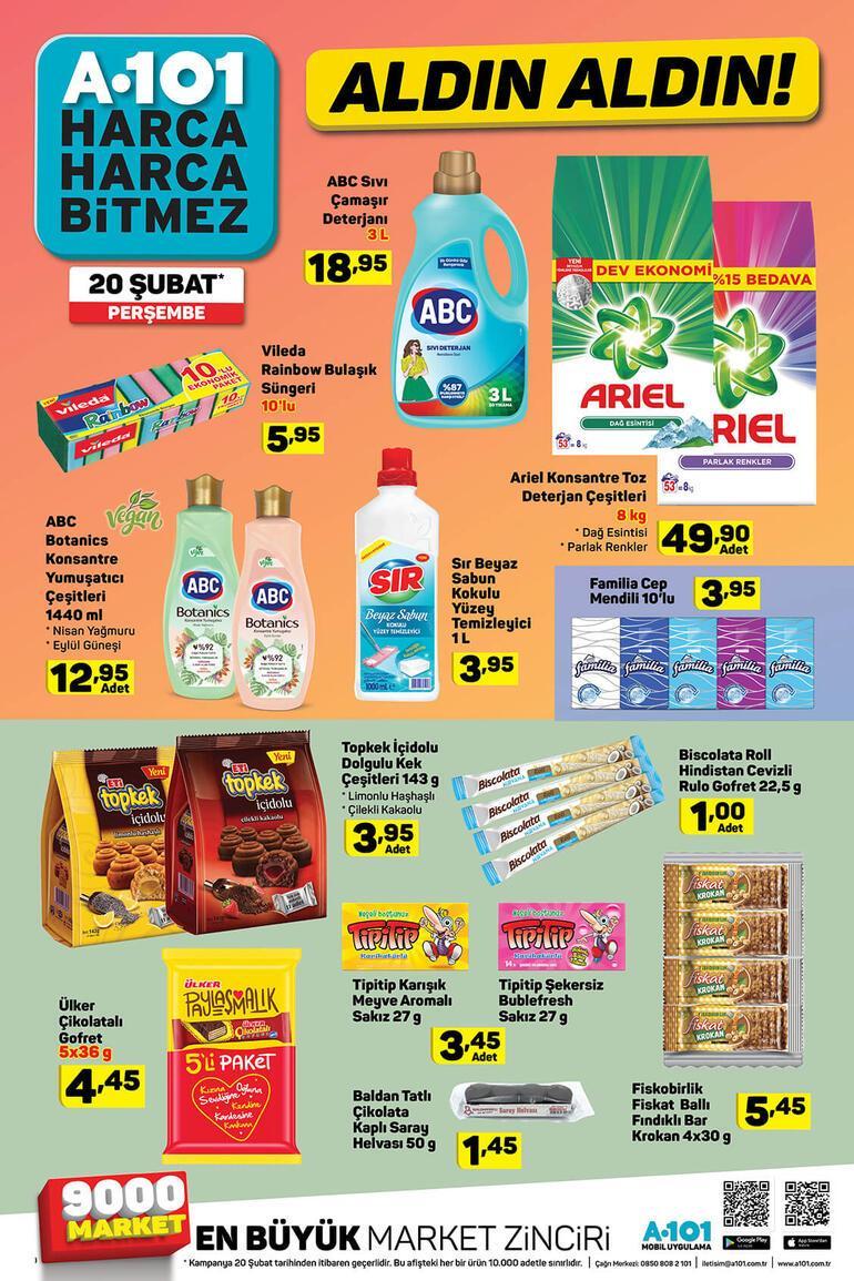A101 20 Şubat aktüel ürünler kataloğunda bu hafta hangi ürünler var A101 İndirimli ürünler listesi