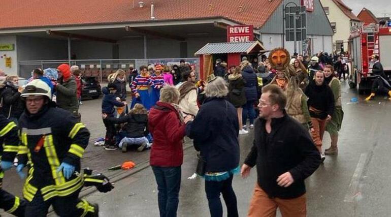 Son dakika... Almanyada karnavala araçlı saldırı