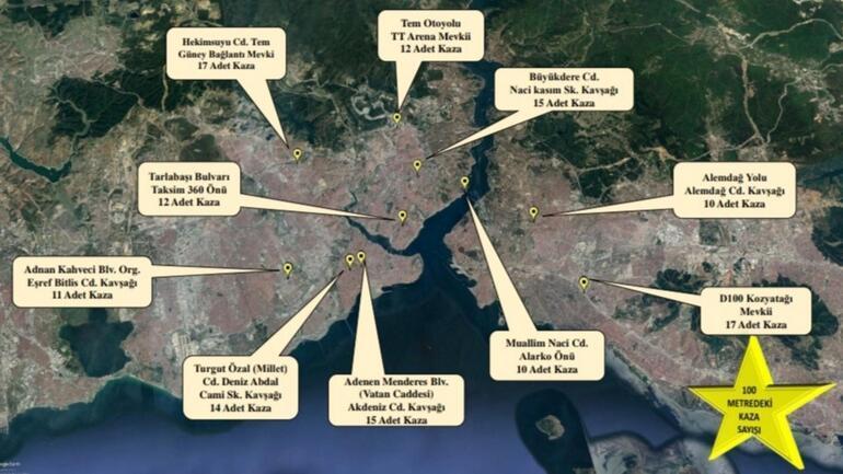 Aman dikkat İşte İstanbulun 10 kara noktası...