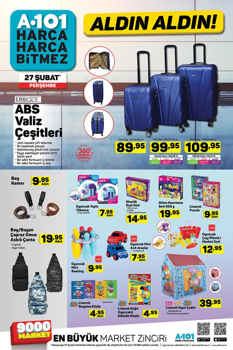 A101de hangi indirimli ürünler satışa çıkıyor 27 Şubat A101 aktüel ürünler kataloğu