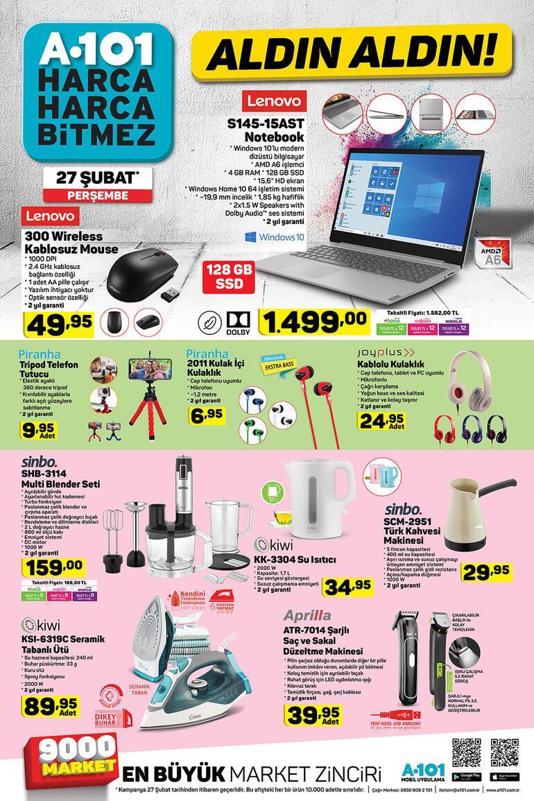 A101de bu hafta hangi indirimli ürünler var A101 aktüel ürünler kataloğu satışa çıkıyor