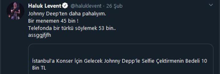 Haluk Leventten Johnny Deepe gönderme