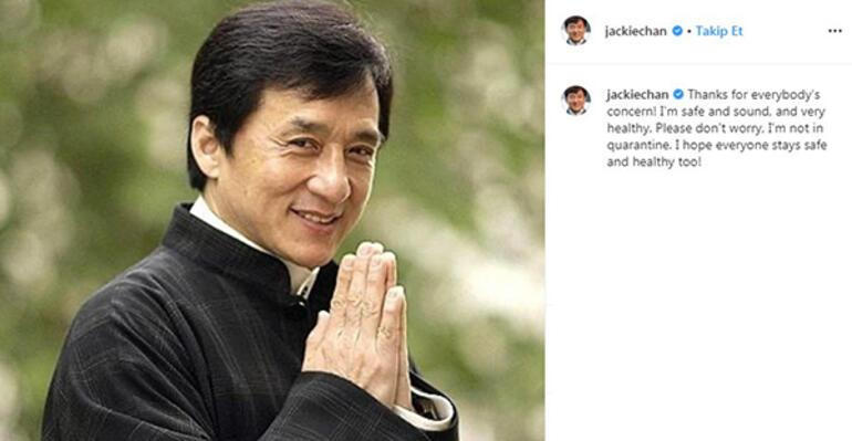 Jackie Chan'den koronavirüs iddialarına yanıt