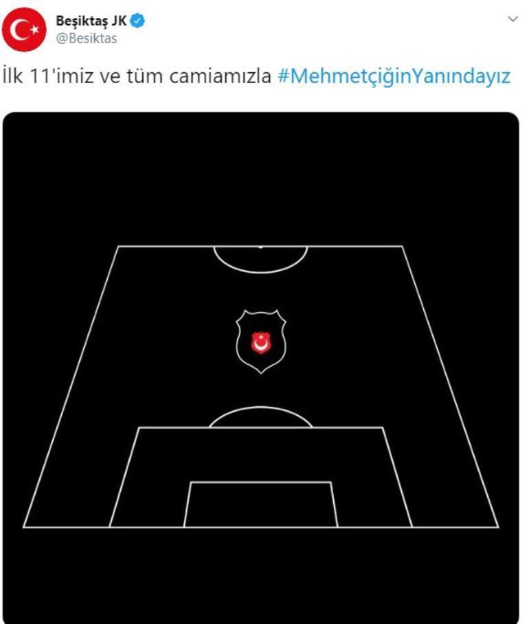 Beşiktaşın ilk 11 paylaşımı dikkat çekti Mehmetçik vurgusu