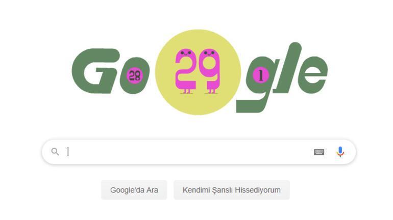Artık Gün, Google tarafından doodle oldu Artık Yıl ne demek, nasıl hesaplanır