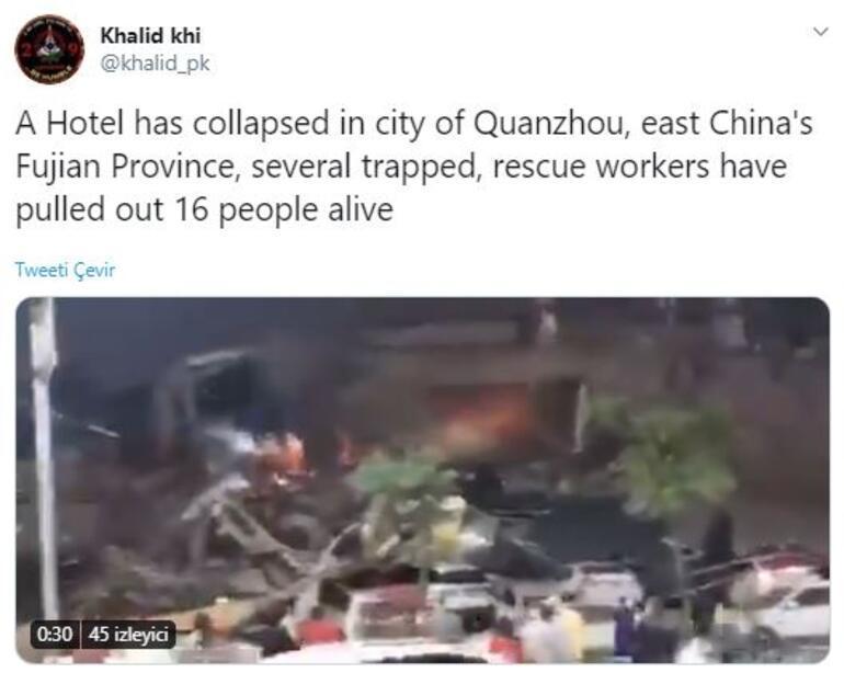 Son dakika haberleri | Çinde koronavirüs hastalarının kaldığı otel çöktü