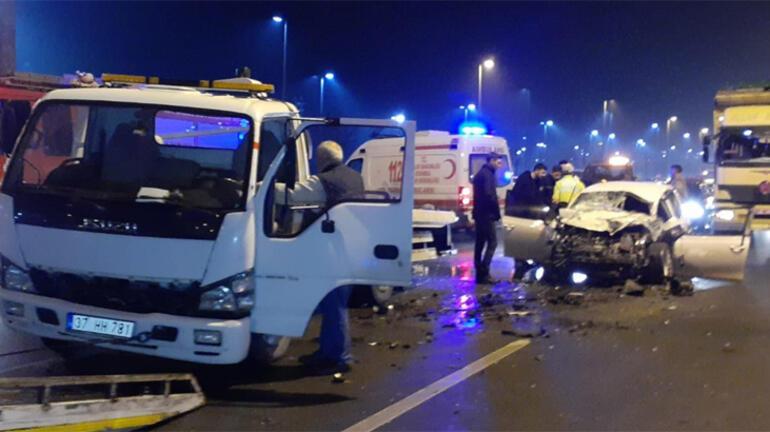 Avcılarda polisten kaçan şüpheliler kaza yaptı