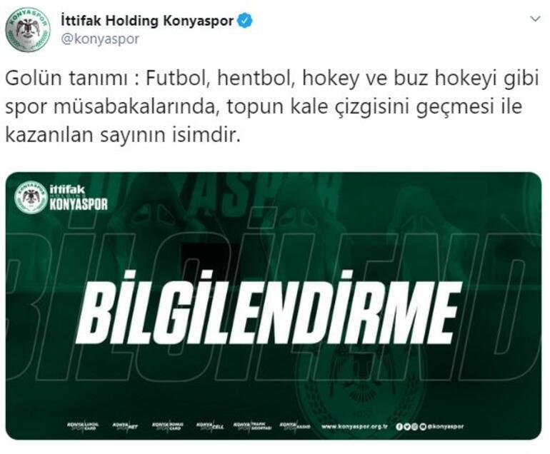 Konyaspordan gol göndermesi Fenerbahçe...