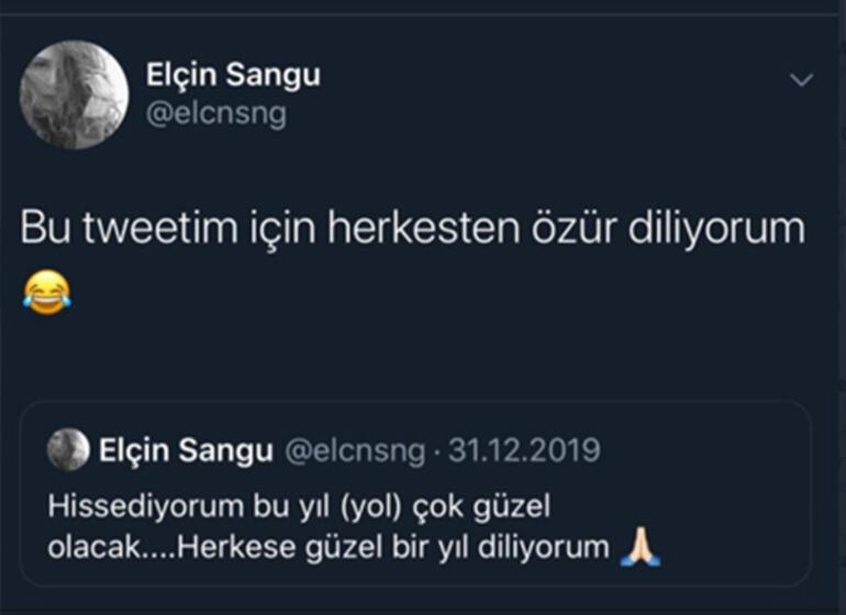 Elçin Sangu tweeti için özür diledi