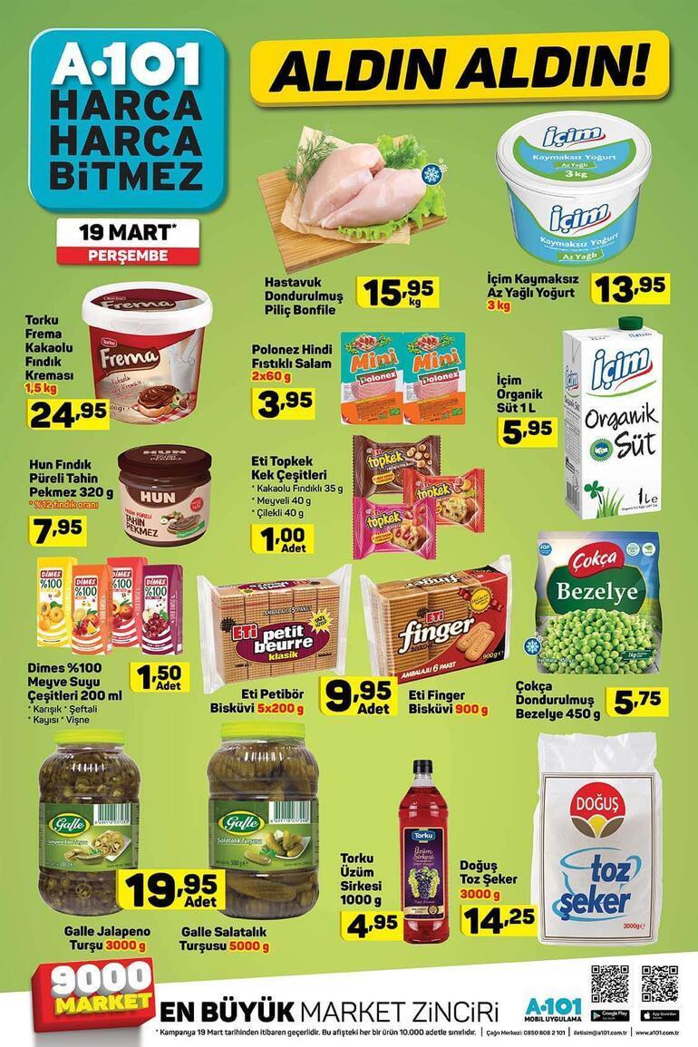A101 aktüel ürünler kataloğunda bu hafta neler var A101 19 Mart indirimli ürünler kataloğu