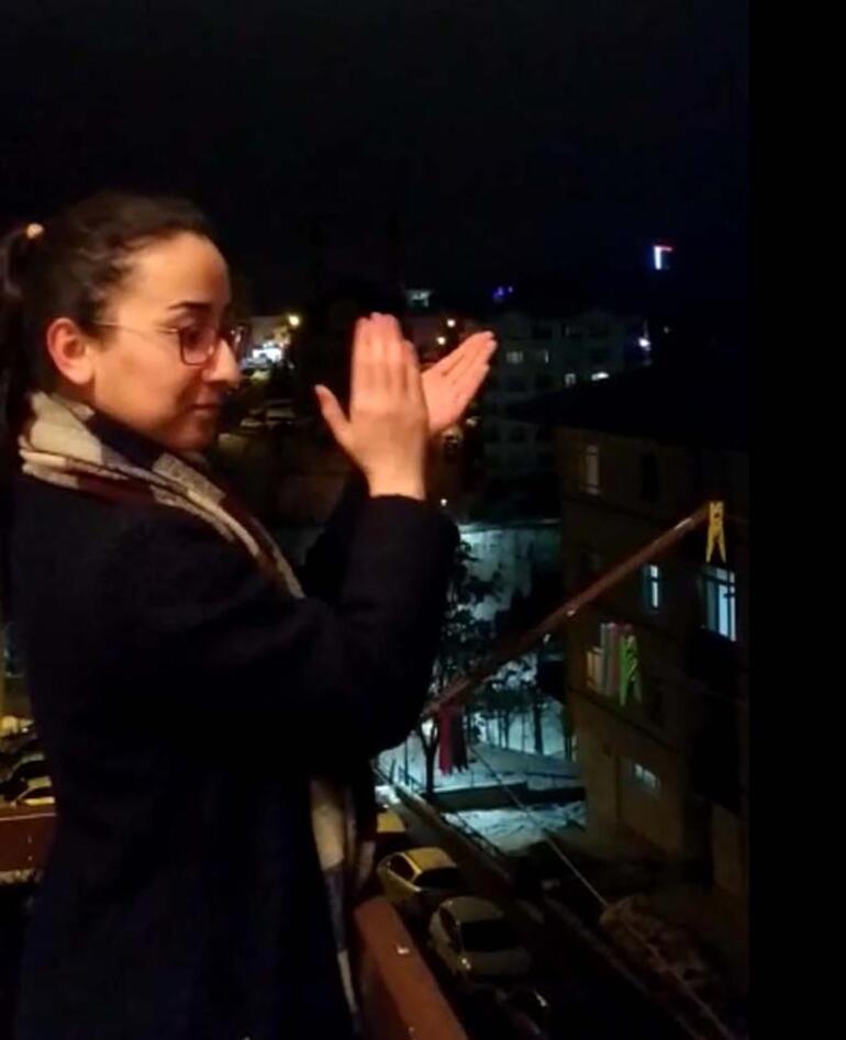 Türkiye 21.00de tek yürek oldu Sağlık çalışanlarına alkışlı destek