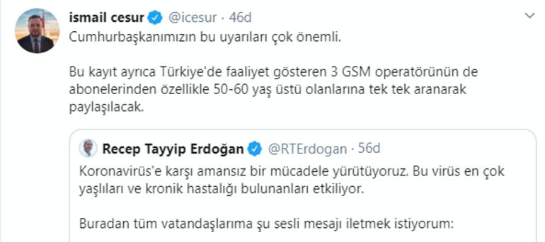 Son dakika: Cumhurbaşkanı Erdoğandan corona virüs uyarısı: Kesinlikle evden dışarı çıkmamalısınız