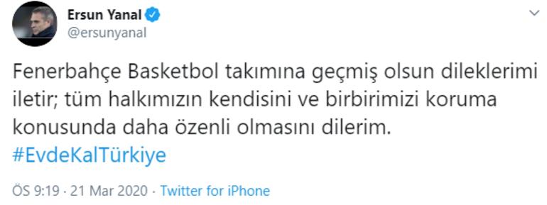 Ersun Yanaldan Fenerbahçe paylaşımı