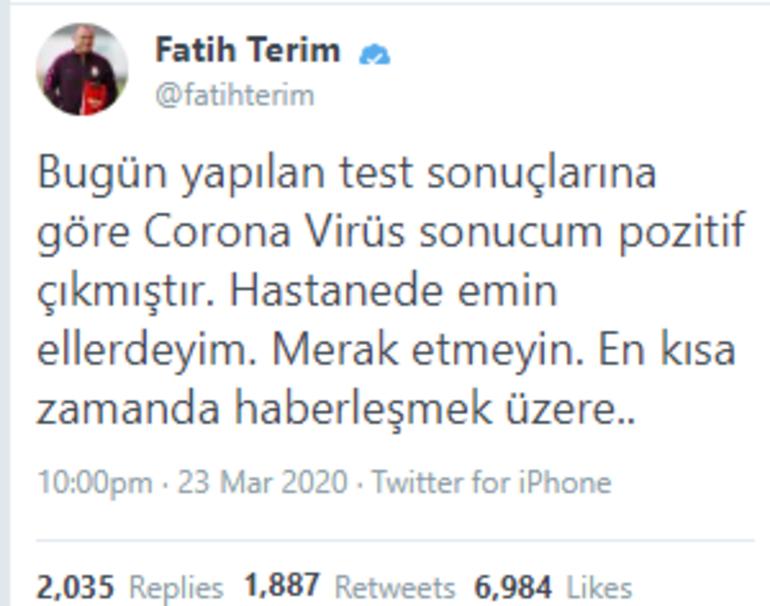 Fatih Terim kimdir, kaç yaşında son durumu ne Fatih Terimin corona virüs test sonucu açıklandı
