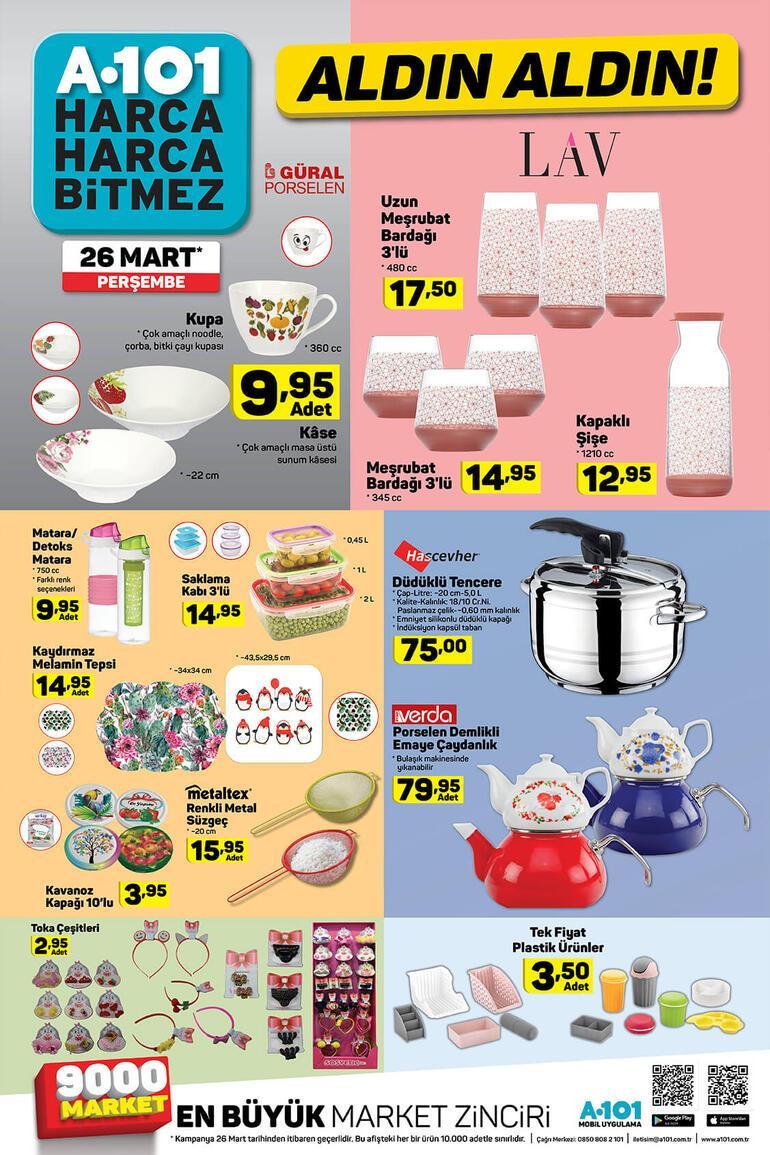 A101 aktüel 26 Mart kataloğu...  A101 aktüel ürünler kataloğunda bu hafta perşembe günü neler var