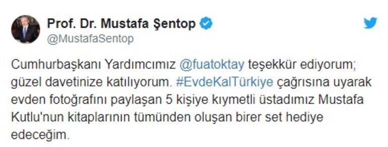 TBMM Başkanı Şentop Evde kal Türkiye çağrısına uyanlara kitap seti hediye etti