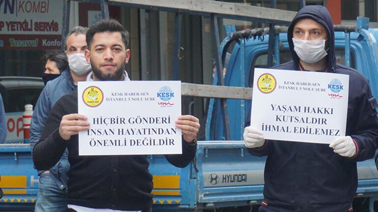 PTT çalışanlarından eylem