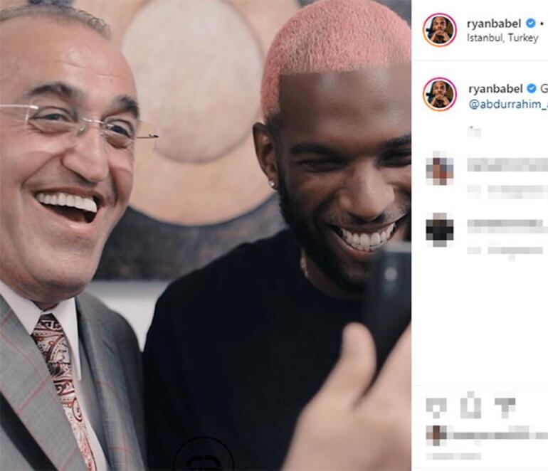 Ryan Babelden Abdurrahim Albayrak paylaşımı