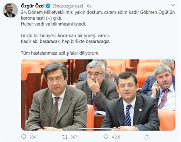 Son dakika: CHPli eski milletvekilinin Corona virüs testi pozitif çıktı