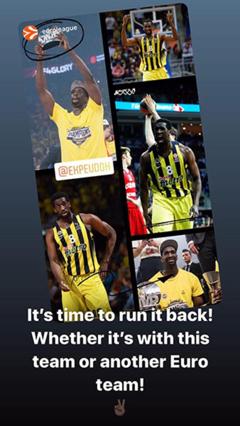 Ekpe Udohdan Fenerbahçeye geri dönüş sinyali