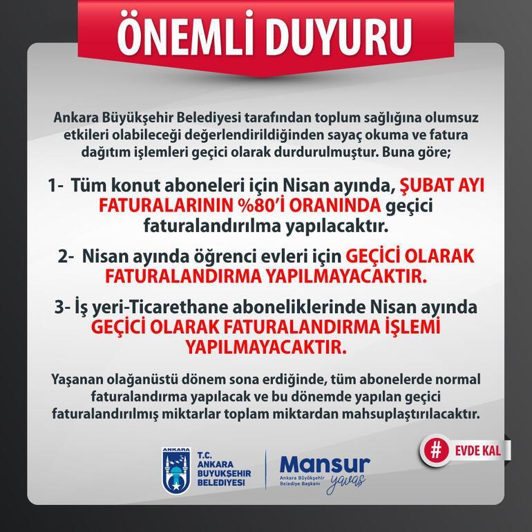Ankarada su faturalarında düzenleme