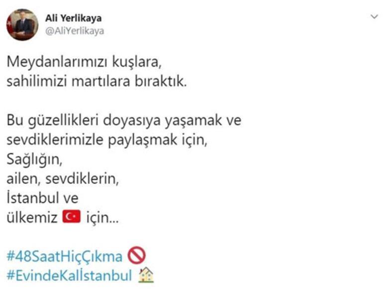 İstanbul Valisi Ali Yerlikayadan 48 saat uyarısı