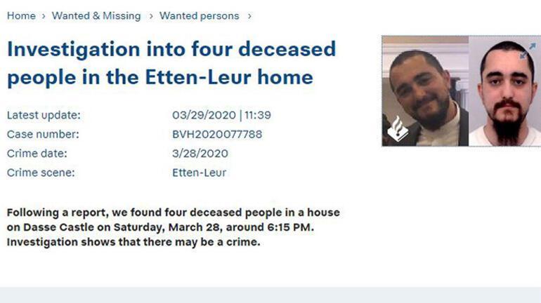 Hollandada bir evde 4 Türk vatandaşının cesedi bulundu