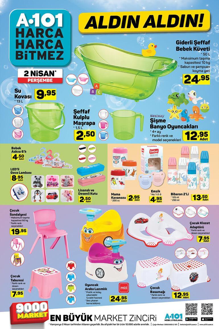 A101de bu hafta hangi indirimli ürünler var A101 2 Nisan aktüel ürünler kataloğu