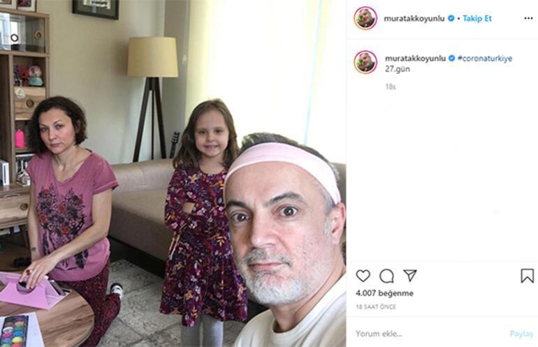 Murat Akkoyunlu ve ailesinin karantina aktivitesi