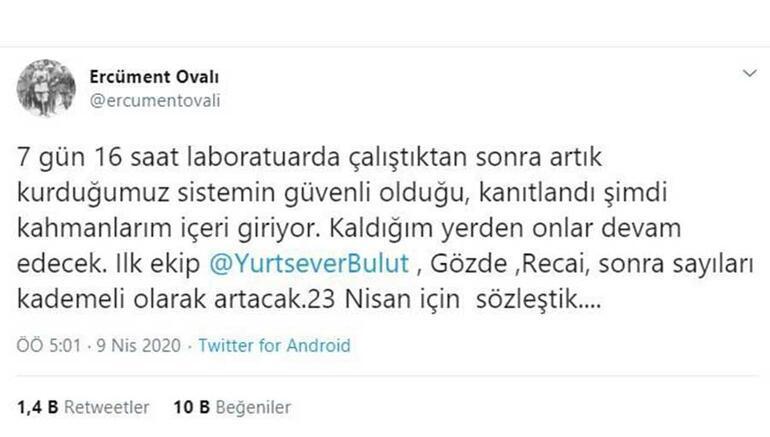 Aşı için çalışan Türk profesörden heyecanlandıran paylaşım