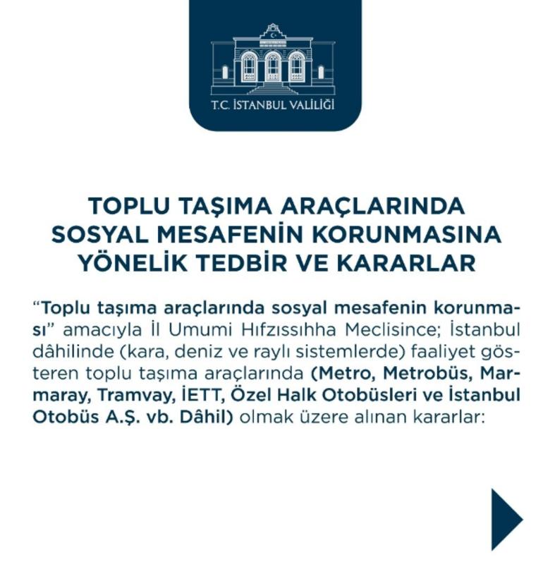 Son dakika haberler: Valilik yeni corona virüs tedbirlerini açıkladı İşte İstanbulda alınan yeni tedbirler