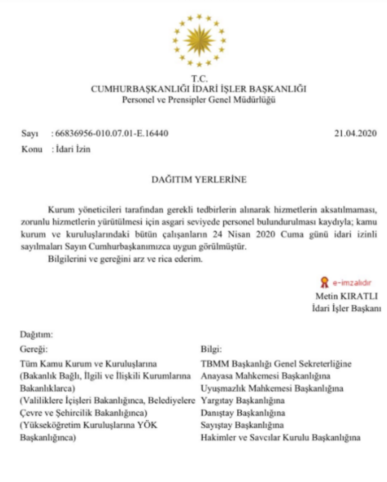 Son dakika... Cumhurbaşkanı Erdoğan onayladı Flaş idari izin kararı