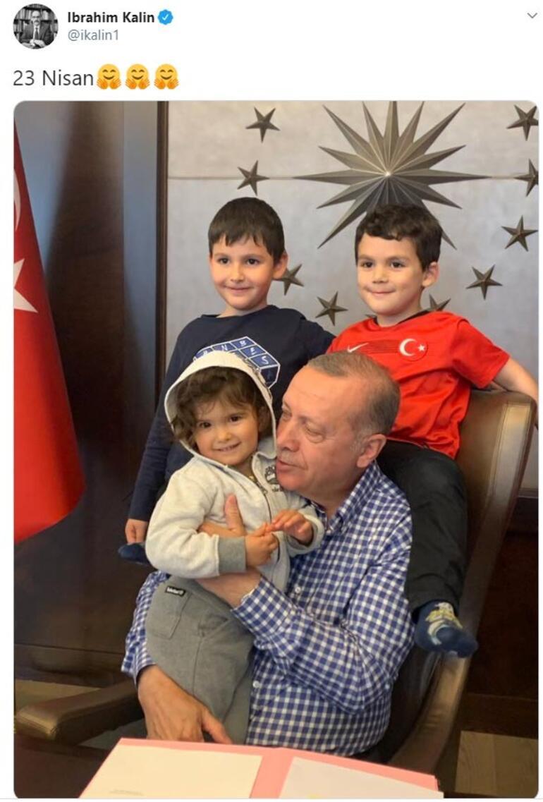 İbrahim Kalın paylaştı Cumhurbaşkanı Erdoğan, torunlarıyla bir araya geldi