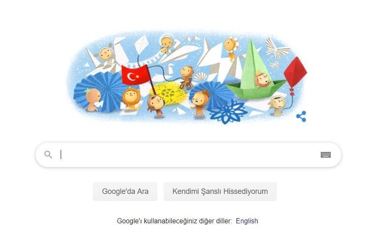 Googledan 23 Nisana özel yeni doodle