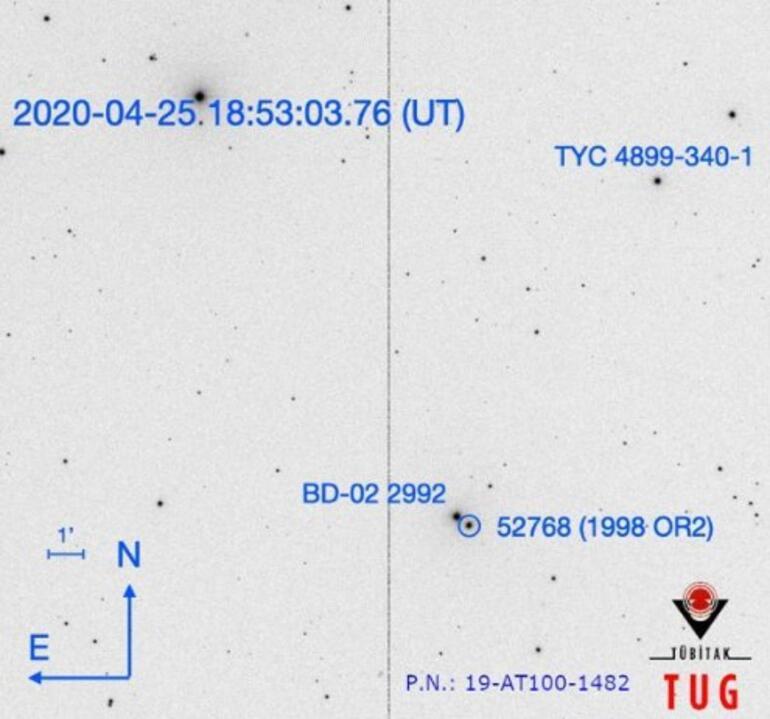 Asteroidin geçişi, Antalyadan da gözlendi