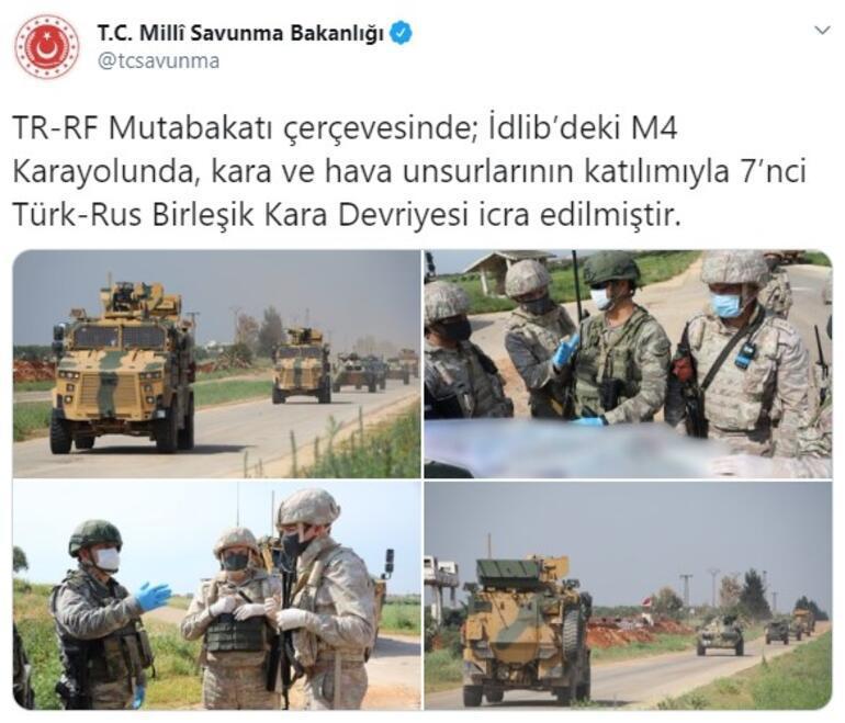 Türkiye ve Rusya arasında İdlibde 7. kara devriyesi