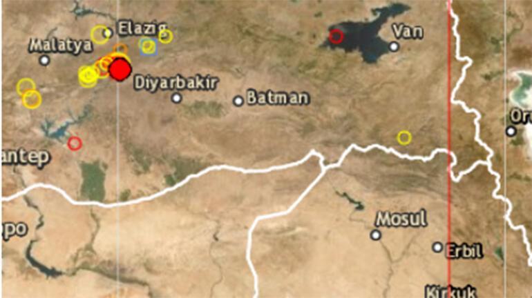 Son dakika haberi   Elazığda korkutan deprem Büyüklüğü...