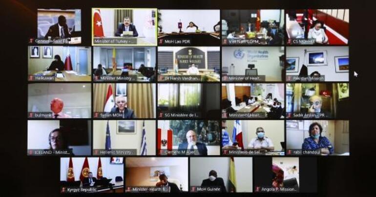 Son dakika Sağlık Bakanı Fahrettin Koca DSÖye Türkiyenin corona virüs mücadelesini anlattı