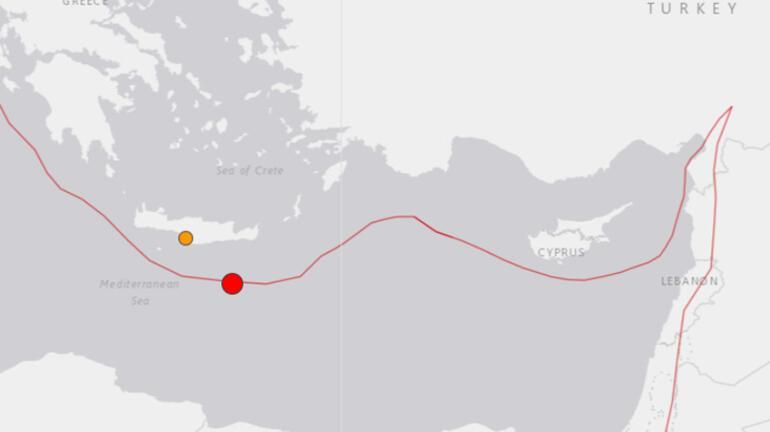 Son dakika Akdenizde şiddetli deprem Depremin büyüklüğü...